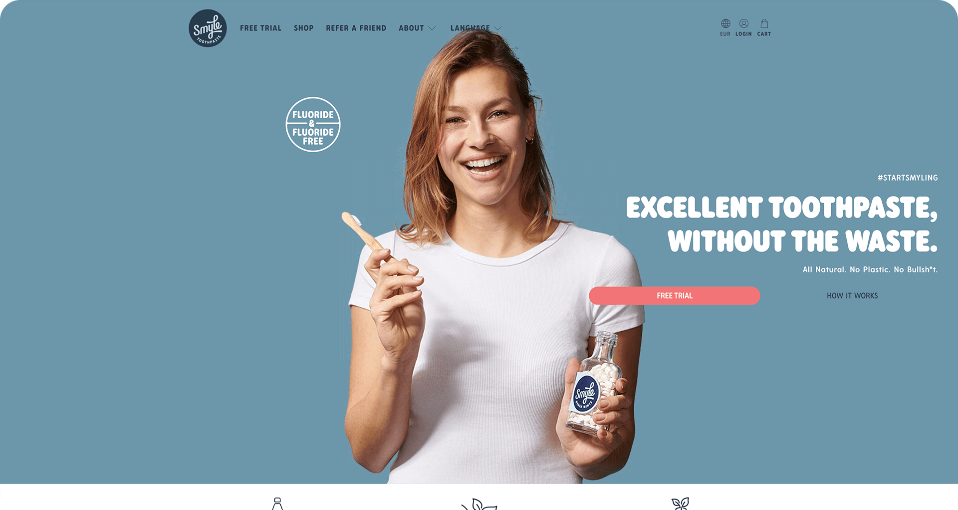 oral care store developed and design on shopify